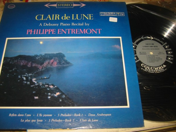 ENTREMONT - DEBUSSY - CLAIR de LUNE - COLUMBIA 235 - Click Image to Close
