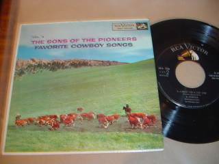 SONS OF THE POINEERS - Cowboy Songs - RCA EPA 651 EP