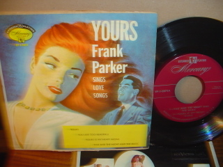 FRANK PARKER - Yours - MERCURY EP 1-3072 EP