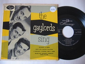 GAYLORDS - THE GAYLORDS SING - MERCURY EP