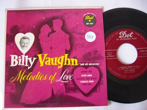 BILLY VAUGHAN - MELODIES OF LOVE - DOT EP - Click Image to Close