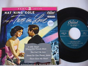 NAT KING COLE - TWO IN LOVE - CAPITOL EP - Click Image to Close