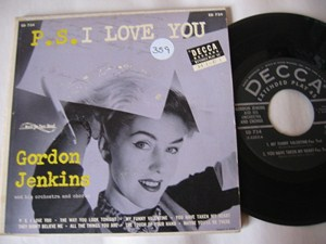 GORDON JENKINS - P.S. I LOVE YOU - 2 DISC DECCA EP