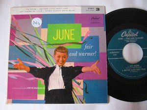 JUNE CHRISTY - FAIR & WARMER - CAPITOL EP