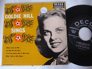 GOLDIE HILL - SINGS - DECCA EP
