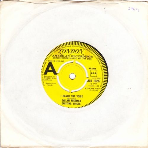 Evelyn Freeman - I heard the Voices - London Demo 4129