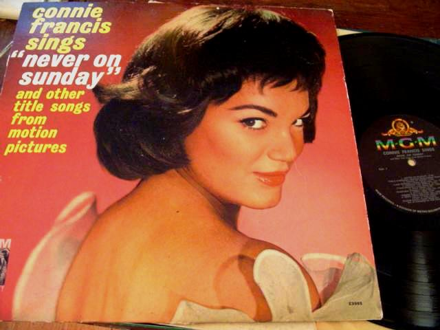 CONNIE FRANCIS - NEVER ON SUNDAY - MGM { F 31