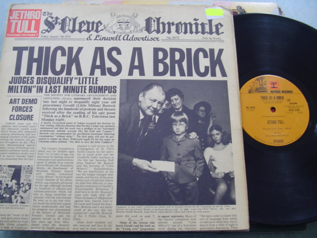 JETHRO TULL - THICK AS A BRICK - REPRISE