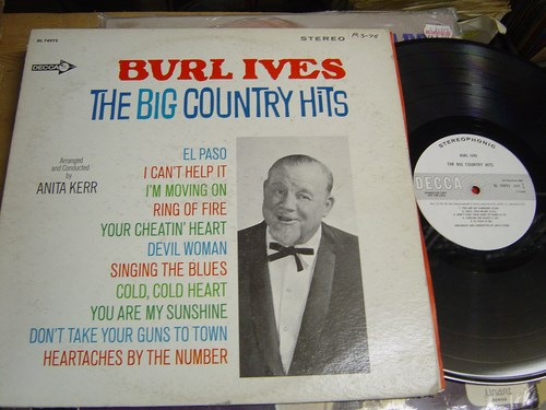 Burl Ives - Big Country Hits - Decca DL74972 Promo USA