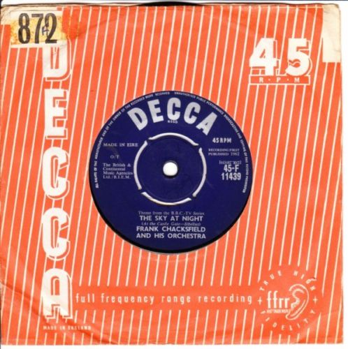 Frank Chacksfield - Face to Face - Decca Irish 3537