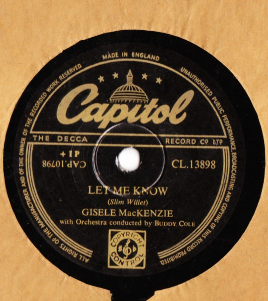 Giselle MacKenzie - Let me know - Capitol