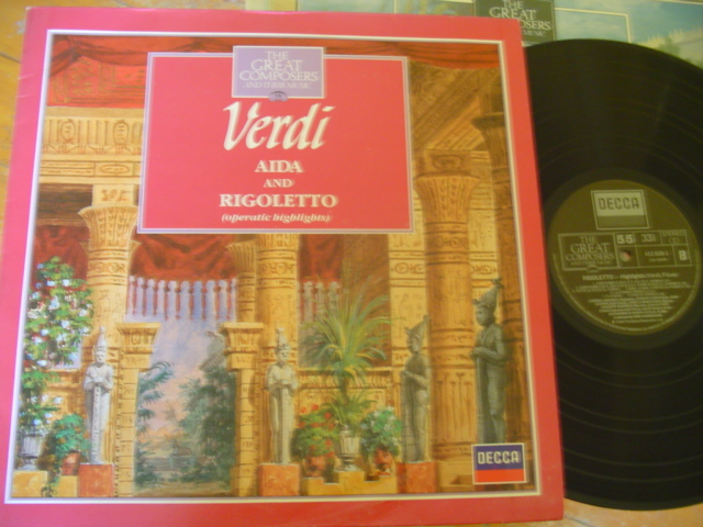 55 - GREAT COMPOSERS - VERDI AIDA RIGOLETTO - DECCA