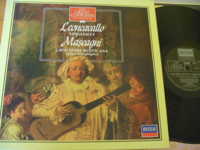 58 - GREAT COMPOSERS - LEONCAVALLO MASCAGNI - DECCA
