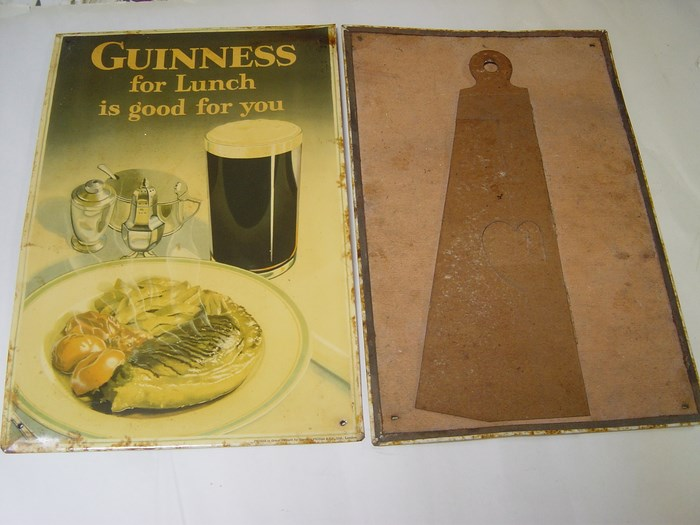 Guinness - For lunch is good for you - Rare Tin Cardboard 2