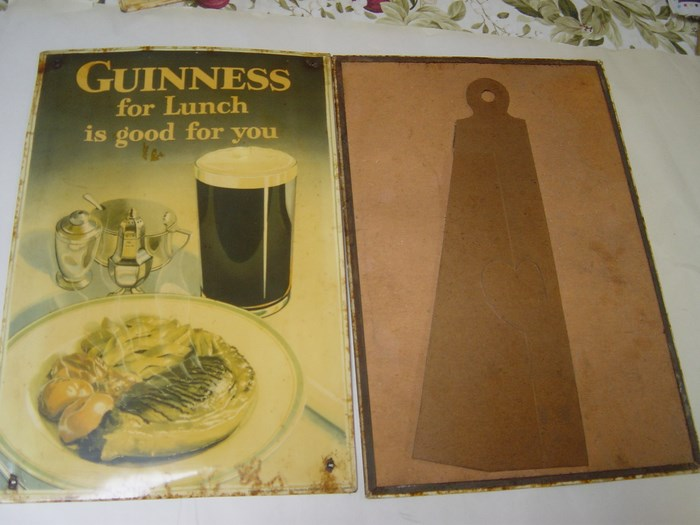 Guinness - For lunch is good for you - Rare Tin Cardboard 3