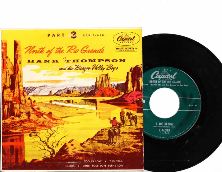 HANK THOMPSON - NORTH OF RIO GRANDE - CAPITOL ep