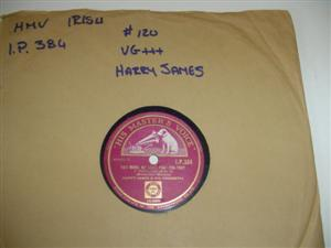 HARRY JAMES - I CRIED FOR YOU - irish HMV 144