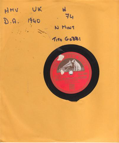 TITO GOBBI - TAKE THE SUN - HMV 1487