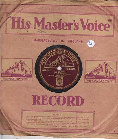 LESLIE HUTCHINSON - HUTCH - YOU WALK BY - HMV 1457