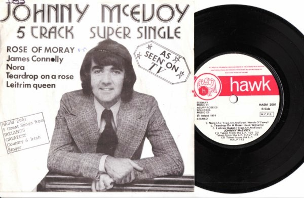 HASM 2001 - Johnny McEvoy - Hawk 1974 - 5 Track EP