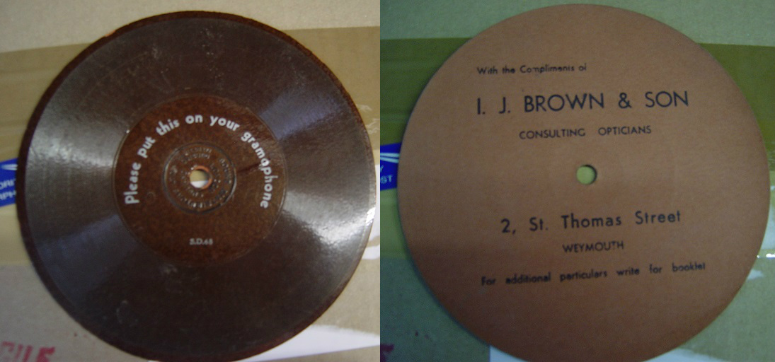 I. J. Brown & Sons Opticians Thomas St. Weymouth - Flexi Disc