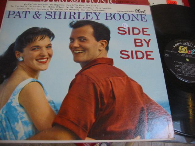 PAT & SHIRLEY BOONE - SIDE BY SIDE - DOT { C 50