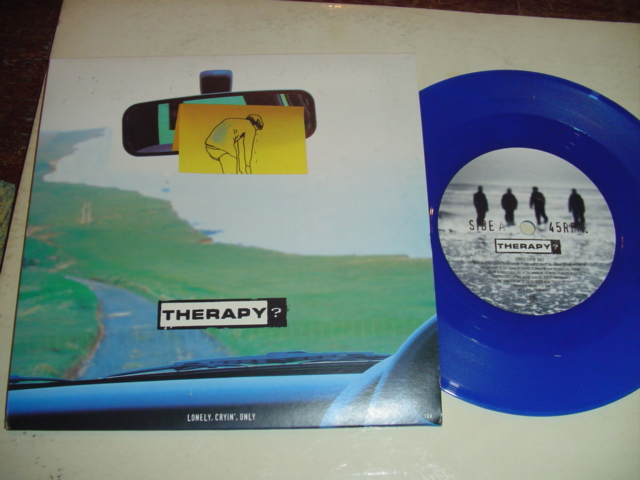THERAPY - LONLEY CRYING ONLY - BLUE VINYL 12