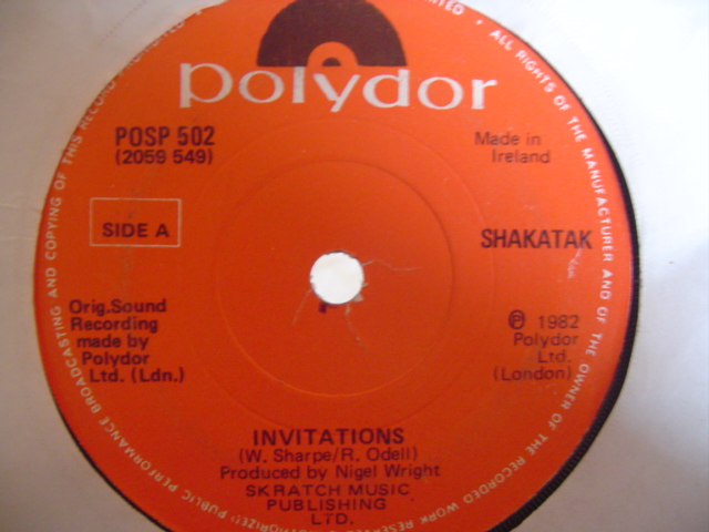 SHAKATAK - INVITATIONS - POLYDOR IRISH
