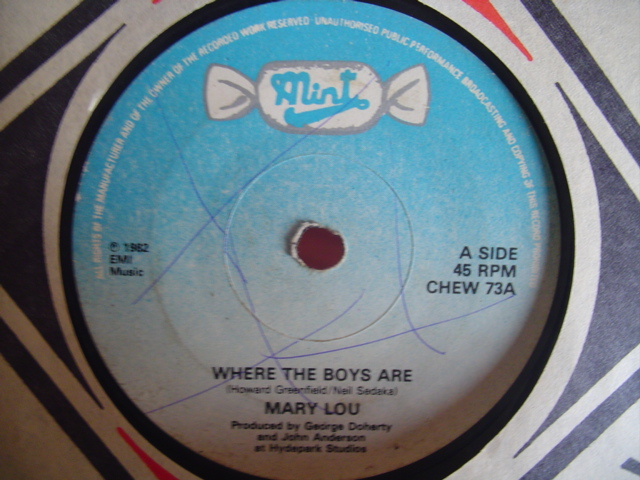 MARY LOU - WHERE THE BOYS ARE - MINT RECORDS 73