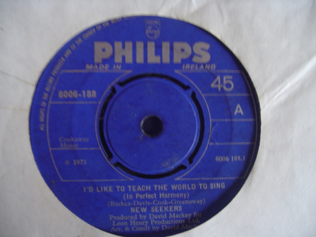 NEW SEEKERS - LIKE TO TEACH WORLD TO SING - PHILIPS