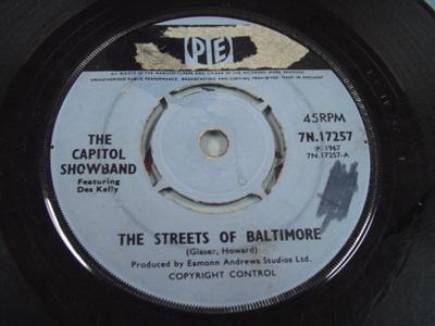 CAPITOL SHOWBAND - STREETS BALTIMORE - PYE UK { IP 304