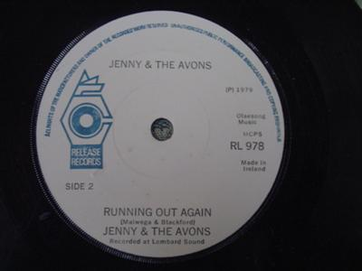 RL 0978 - JENNY & THE AVONS - RUNNING OUT AGAIN - RELEASE