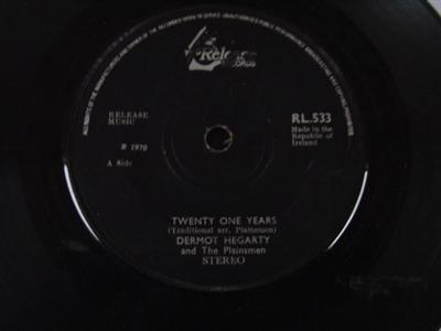 RL 0533 - DERMOT HEGARTY & PLAINSMEN - TWENTY ONE YEARS