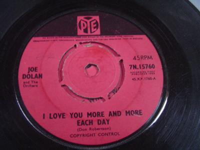 JOE DOLAN - LOVE YOU MORE & MORE EACH - PYE UK { IP 306