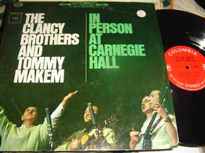 CLANCY BROTHERS & MAKEM - CARNEGIE HALL - COLUMBIA