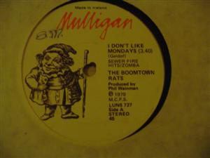 BOOMTOWN RATS - DONT LIKE MONDAYS - MULLIGAN { 244