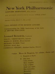 TOSCANINI 100 th - BERNSTEIN MARCH 1967 { 29