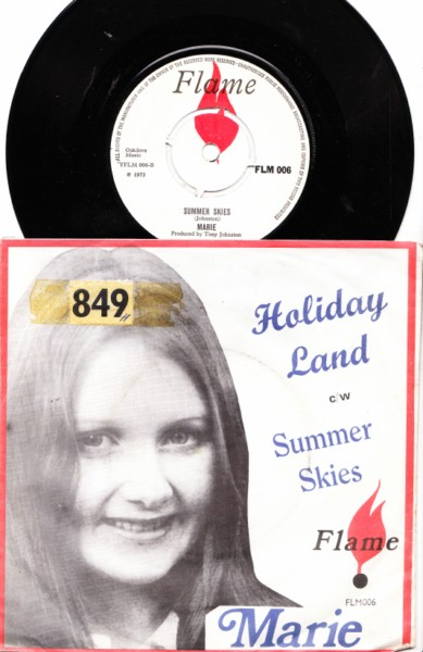 Marie - Holidayland - 1973 Picture Sleeve Flame