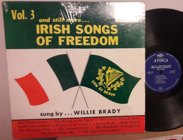 WILLIE BRADY - IRISH SONGS FREEDOM VOL 3 - AVOCA