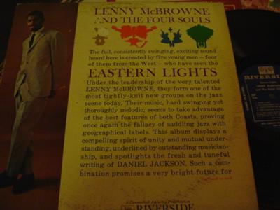 LENNY McBROWNE - EASTERN LIGHTS - RIVERSIDE { J 732