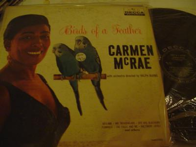 CARMEN McRAE - BIRDS OF FEATHER - DECCA { J 739