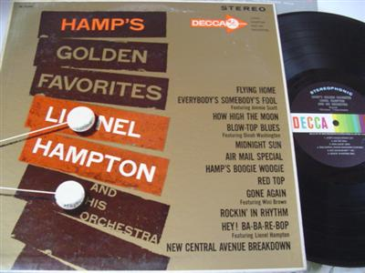 LIONEL HAMPTON - HAMPS FAVORITES - DECCA { 756