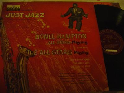 LIONEL HAMPTON - JUST JAZZ - DECCA { J 703