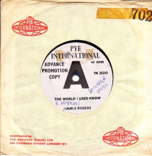 JIMMIE ROGERS - WORLD I USED KNOW - PYE Int. DEMO 3172