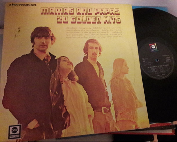 Mamas & Papas - 20 Golden Hits - ABC 604 2 LP UK 1970'S Ex