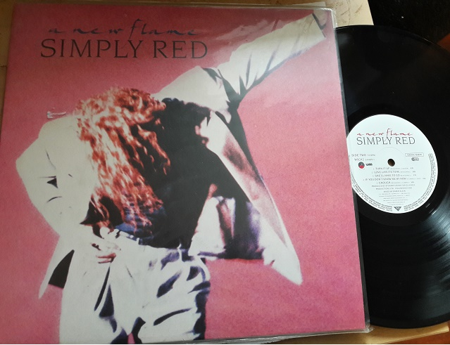 Simply Red - A NEW FLAME - WEA WX.242 UK 1989 Excellent