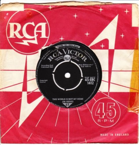 Jim Reeves - World is not my Home - RCA Irish 1964 3512