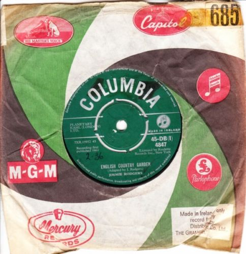 Jimmy Rodgers - English Country Garden- Columbia Irish 4847