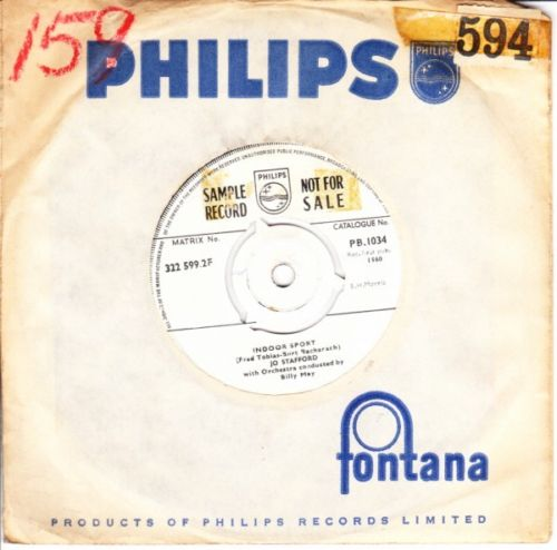 Jo Stafford - Indoor Sport - Philips Sample Demo UK 3686