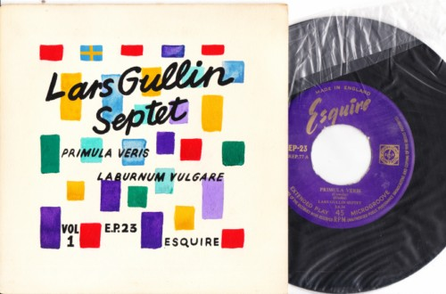 Lars Gullin Septet - Esquire EP - Hand Painted Sleeve 2